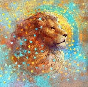 lion by julie dillon 300x297 - Leo New Moon: Precarious Gamble