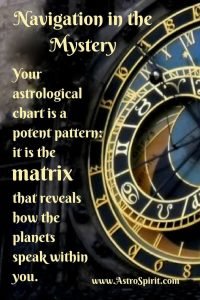 astrological chart navigation clock AstroSpirit Jacqueline Lasahn