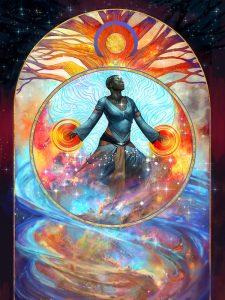 cosmic traveler, Julie Dillon http://www.juliedillonart.com