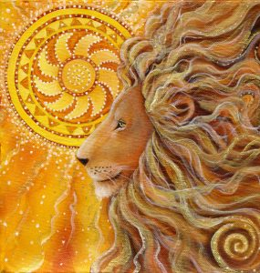 Golden Lion by Cathy McClelland. Leo New Moon Fearlessness. Jacqueline Lasahn, Astrologer