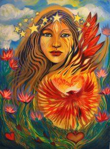 Phoenix Heart by Tessa Mythos. Leo New Moon Fearlessness. Jacqueline Lasahn, Astrologer