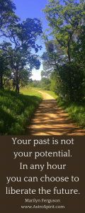 Your past is not your potential. In any hour you can choose to liberate the future. 120x300 - Happy Birthday!