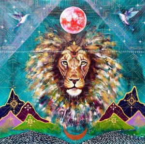 Lion Mountain River Moon by Isabel Bryna. Leo Solar Eclipse. Jacqueline Lasahn, Intuitive Astrologer