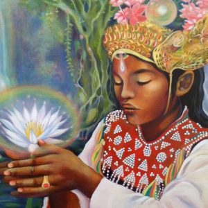 Bali Lotus by Tessa Mythos. Pisces Full Moon: You are the Sky. Astrology