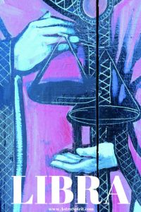 Libra Holding the Scales of Justice. Intuitive Astrologer, Jacqueline Lasahn