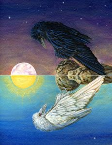 Raven Reflection by Cathy McClelland. Taurus Full Moon: Essential Values