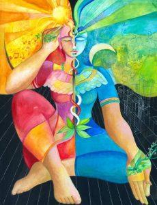 Samsara by Vassia Alaykova.  Aries Full Moon Yin Yang. Jacqueline Lasahn, Intuitive Astrologer