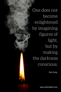One does not become enlightened by imagining figures of light, but by making the darkness conscious.  Carl Jung
