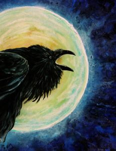 Raven's Call by Cathy McClelland. Gemini Full Moon. Jacqueline Lasahn, Intuitive Astrologer & Ritualist