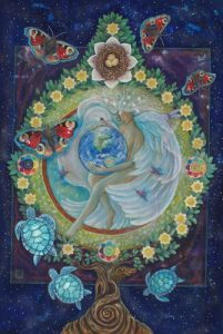 The World by cathy mcclelland 201x300 - Lunar Eclipse Leo: Blood Moon