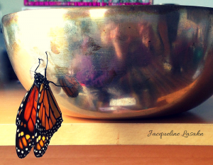 Monarch wings unfold. Mysterious Blessing, the Butterfly on my Altar