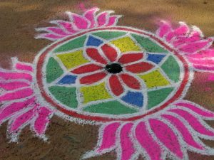 India Kolam 14 by McKay Savage is licensed under CC BY 2.0. 300x225 - Virgo Full Moon: devotion
